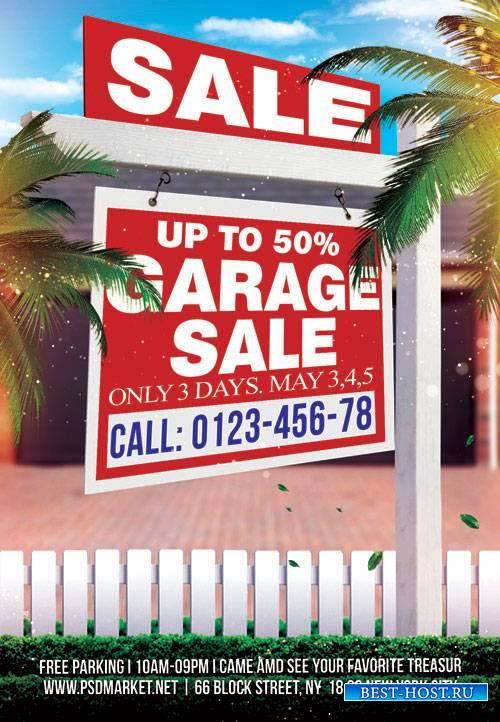 GARAGE SALE – PREMIUM FLYER PSD TEMPLATE