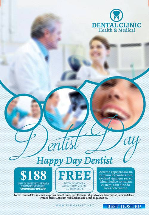 Dentist Day – Premium Flyer PSD Template