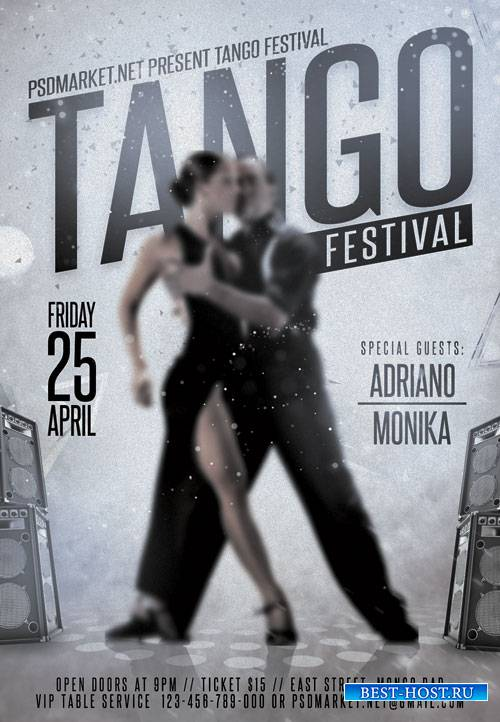 Tango Festival – Premium Flyer PSD Template