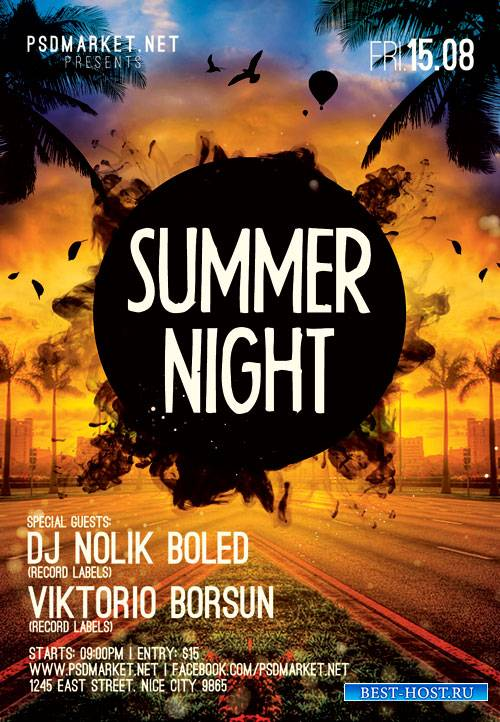 Summer Night – Premium Flyer PSD Template