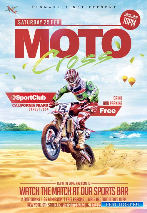 Moto Cross – Premium Flyer PSD Template