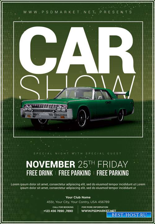 Car Show Event Flyer – PSD Template