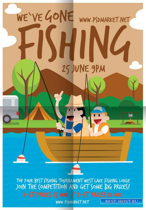 FISHING FLYER – PSD TEMPLATE