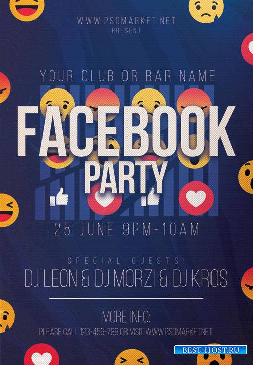 FACEBOOK PARTY NIGHT FLYER – PSD TEMPLATE