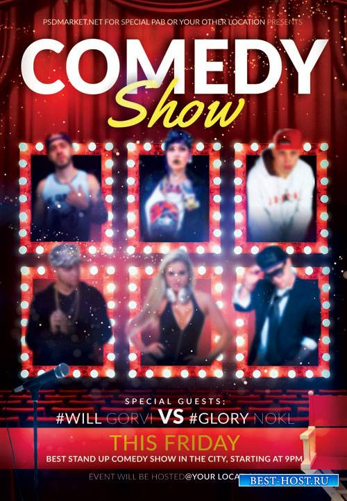 COMEDY SHOW FLYER – PSD TEMPLATE