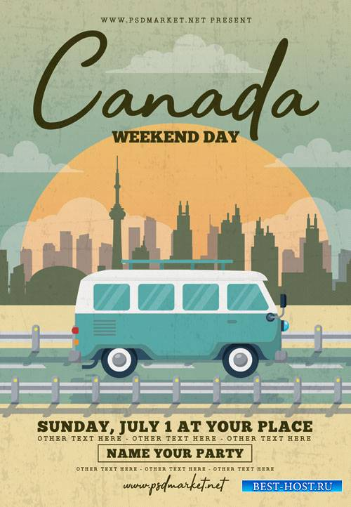 Canada Day Flyer – PSD Template