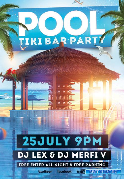 POOL PARTY FLYER - PSD TEMPLATE