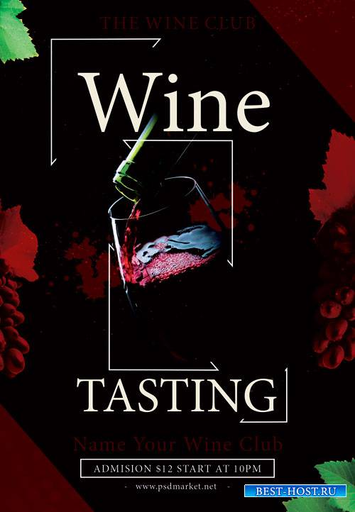 WINE TASTING EVENTS FLYER - PSD TEMPLATE