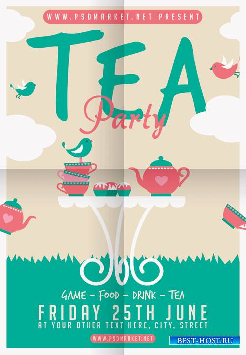 TEA PARTY FLYER - PSD TEMPLATE