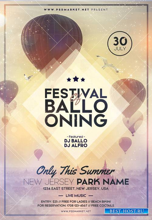 FESTIVAL OF BALLOONS FLYER - PSD TEMPLATE