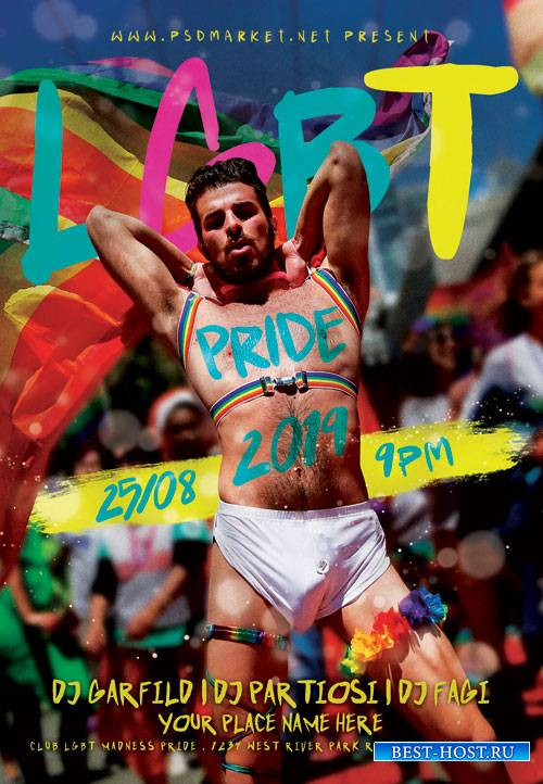 LGBT PRIDE FLYER - PSD TEMPLATE