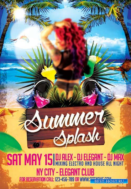 Summer Splash psd flyer template