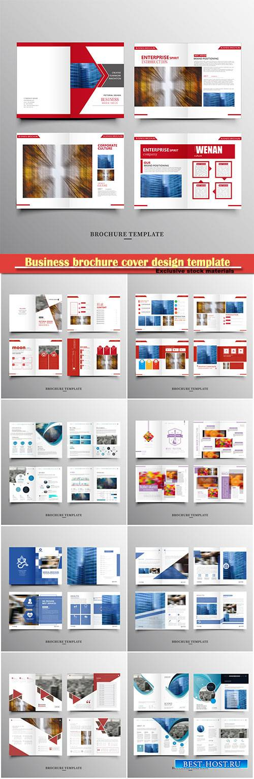 Business brochure cover design template, vector flyer
