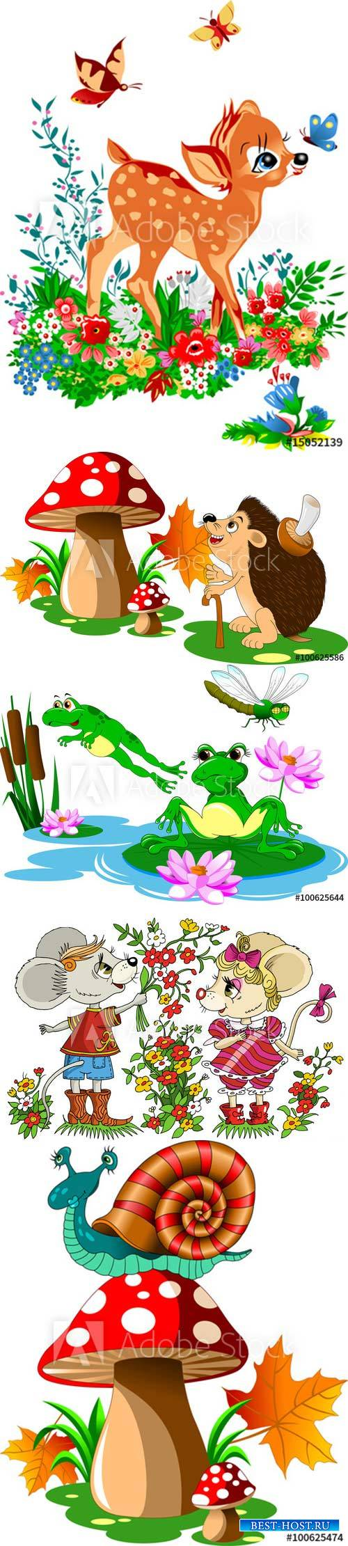 Cartoon vector illustration with animals