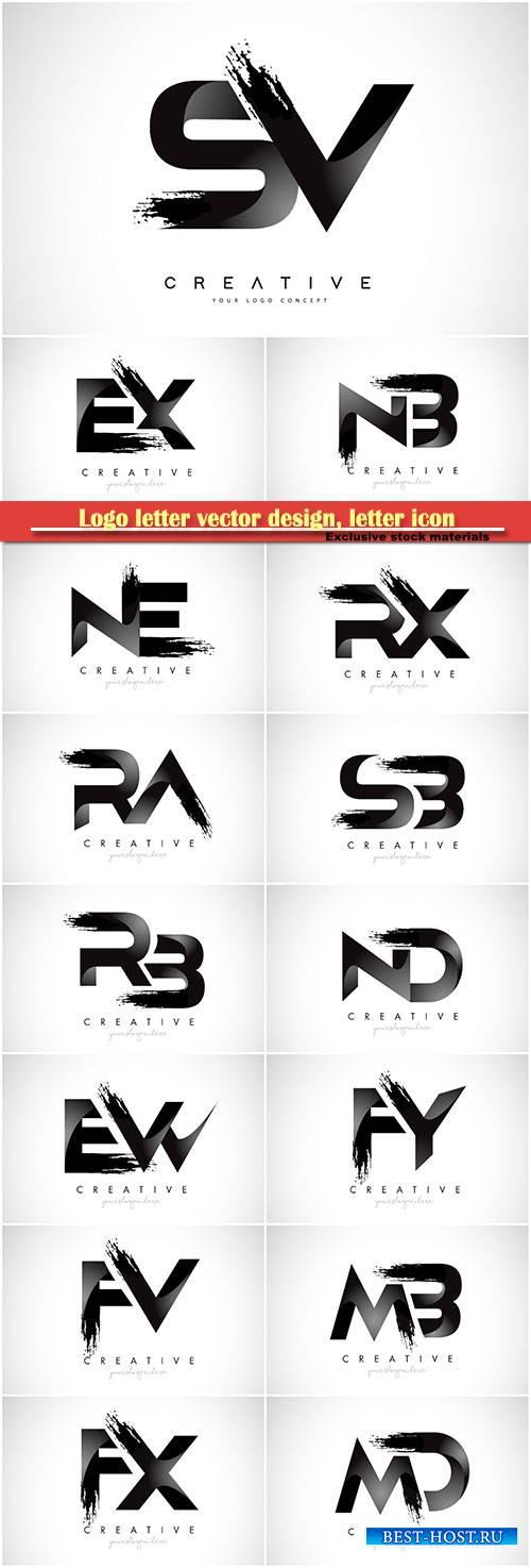 Logo letter vector design, letter icon # 40