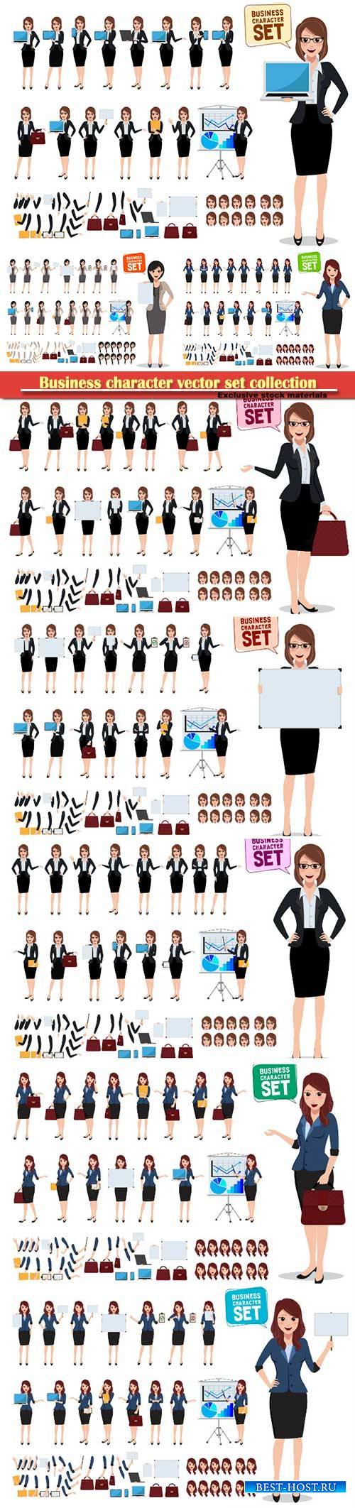 Business character vector set