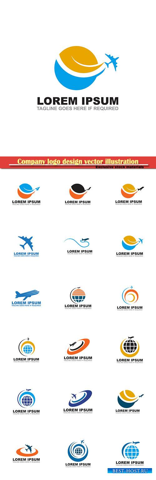 Travel logo design vector illustration