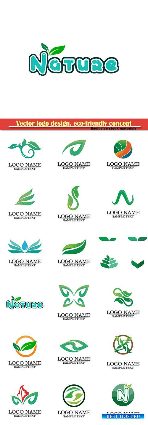 Vector logo design, eco-friendly concept