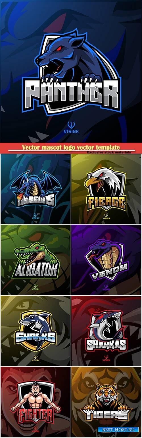 Vector mascot logo vector template # 4