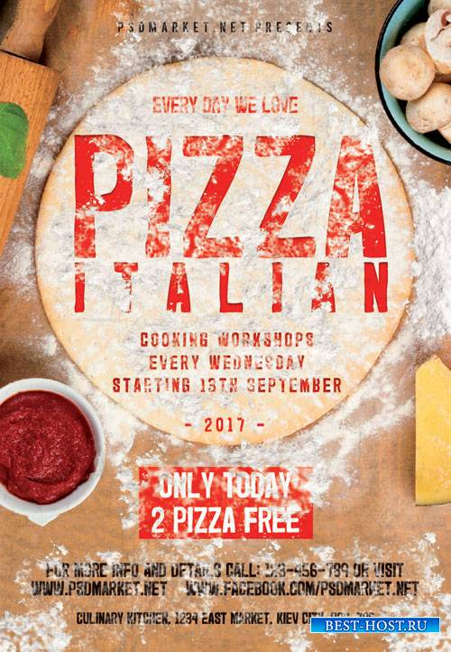 Pizza italian - Premium flyer psd template