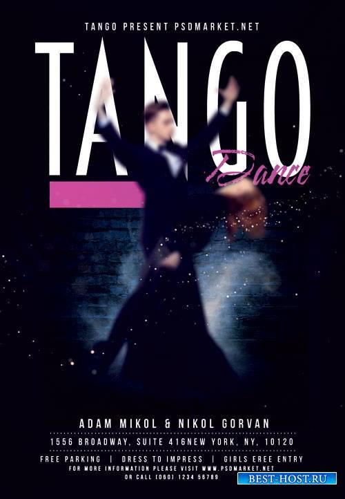Tango dance - Premium flyer psd template
