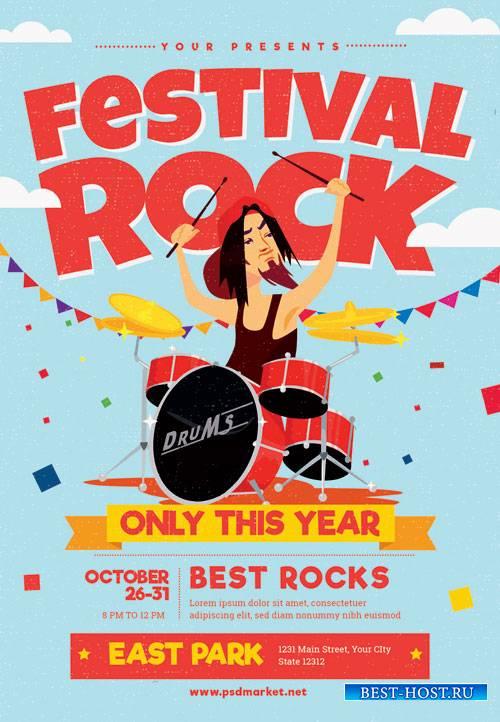 Rock festival - Premium flyer psd template