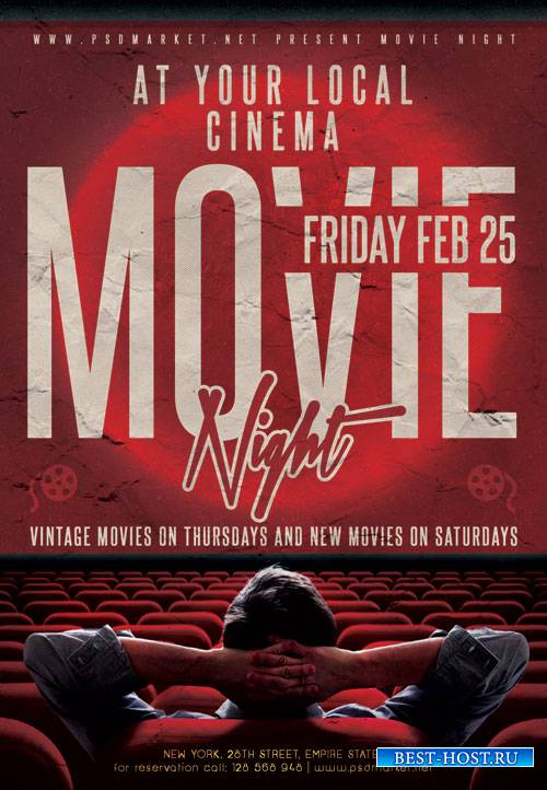 Movie night - Premium flyer psd template