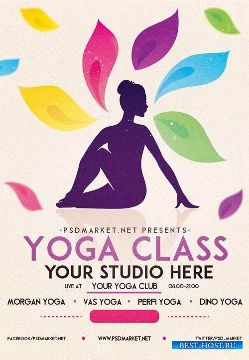 Yoga class - Premium flyer psd template