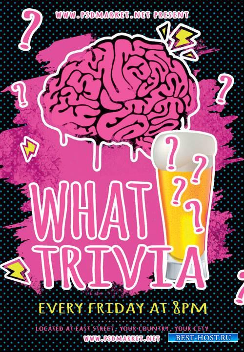 Trivia - Premium flyer psd template