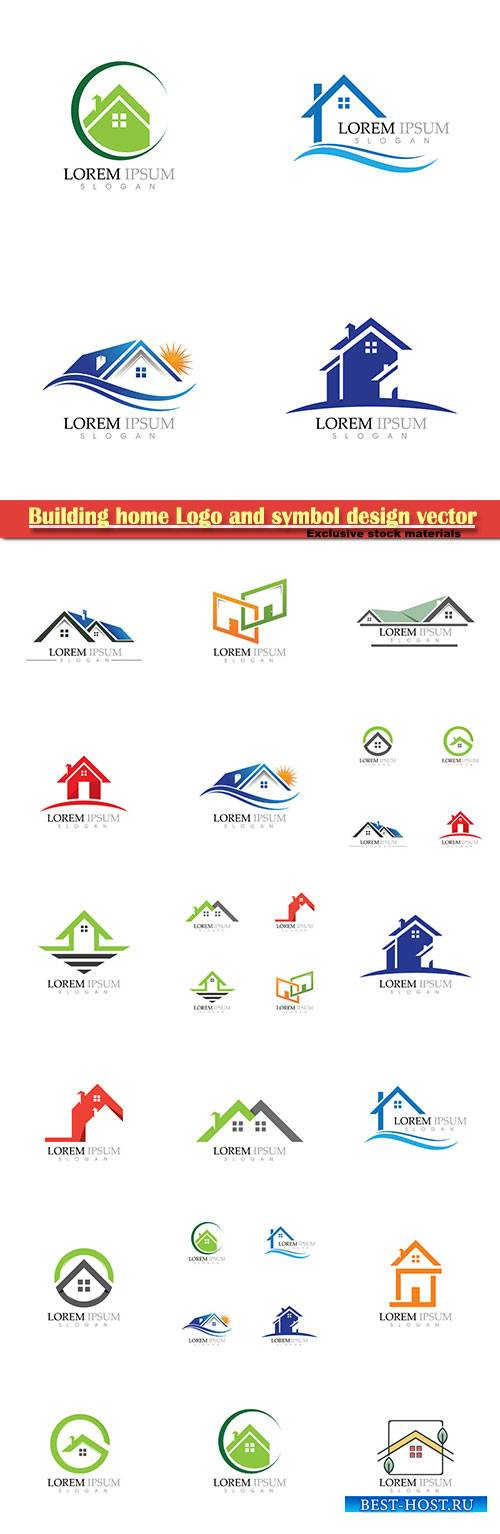 Building home Logo and symbol design vector