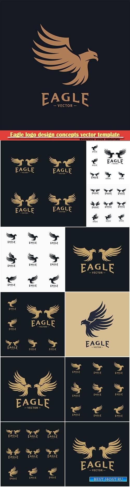 Eagle logo design concepts vector template, icon symbol