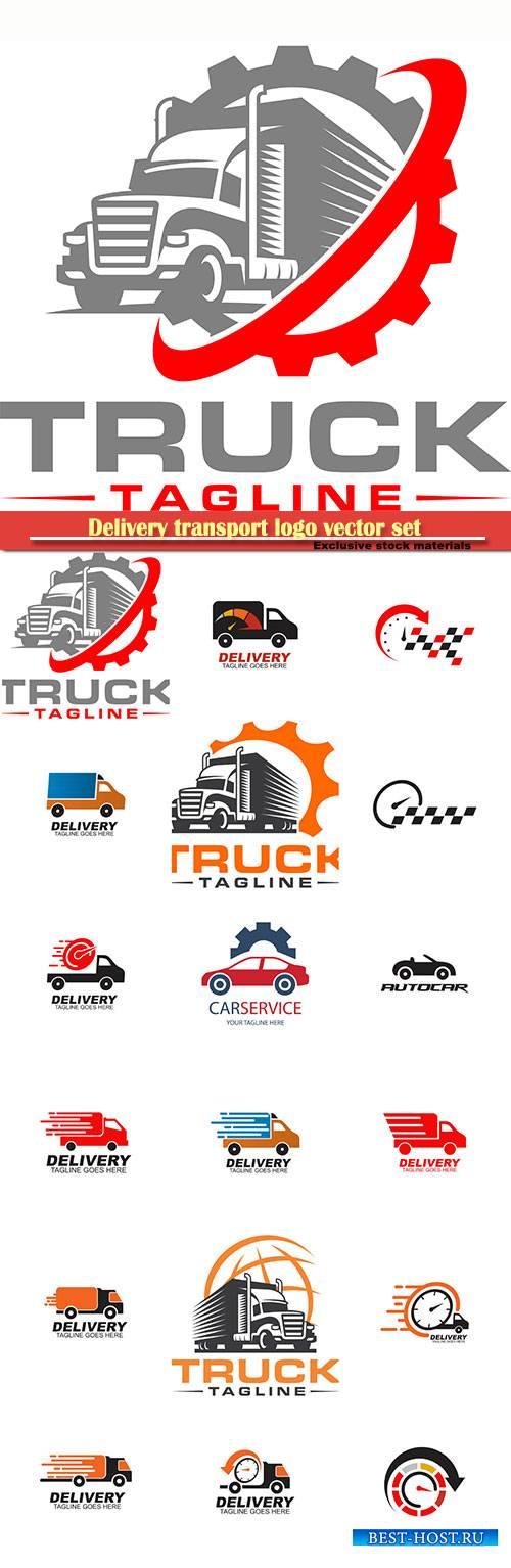 Delivery transport logo vector set