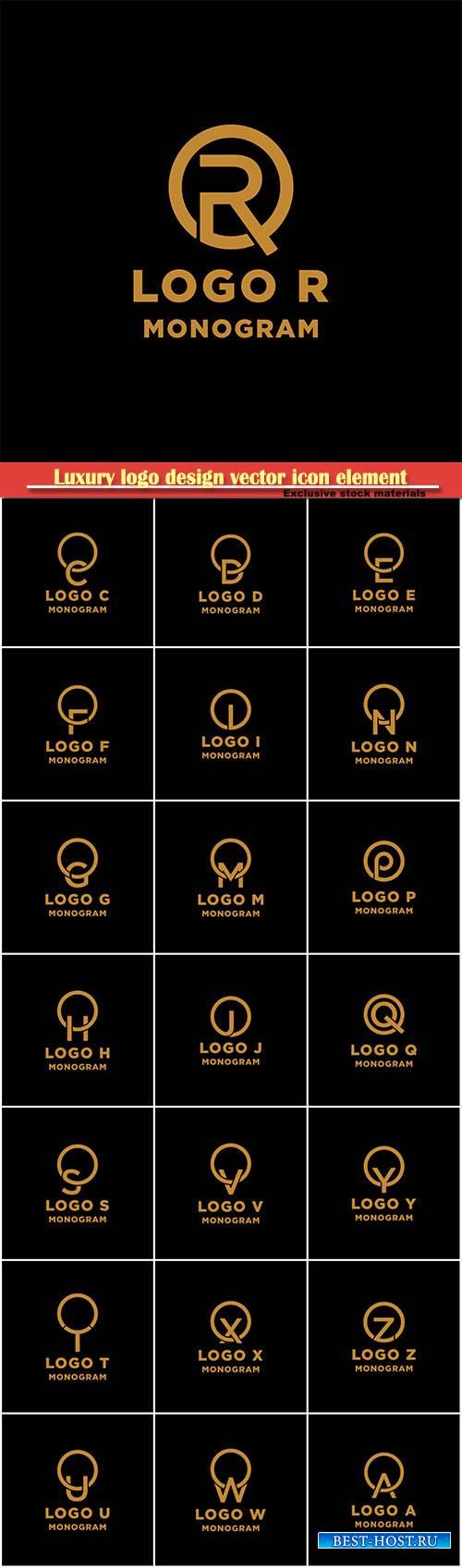 Luxury logo design vector icon element