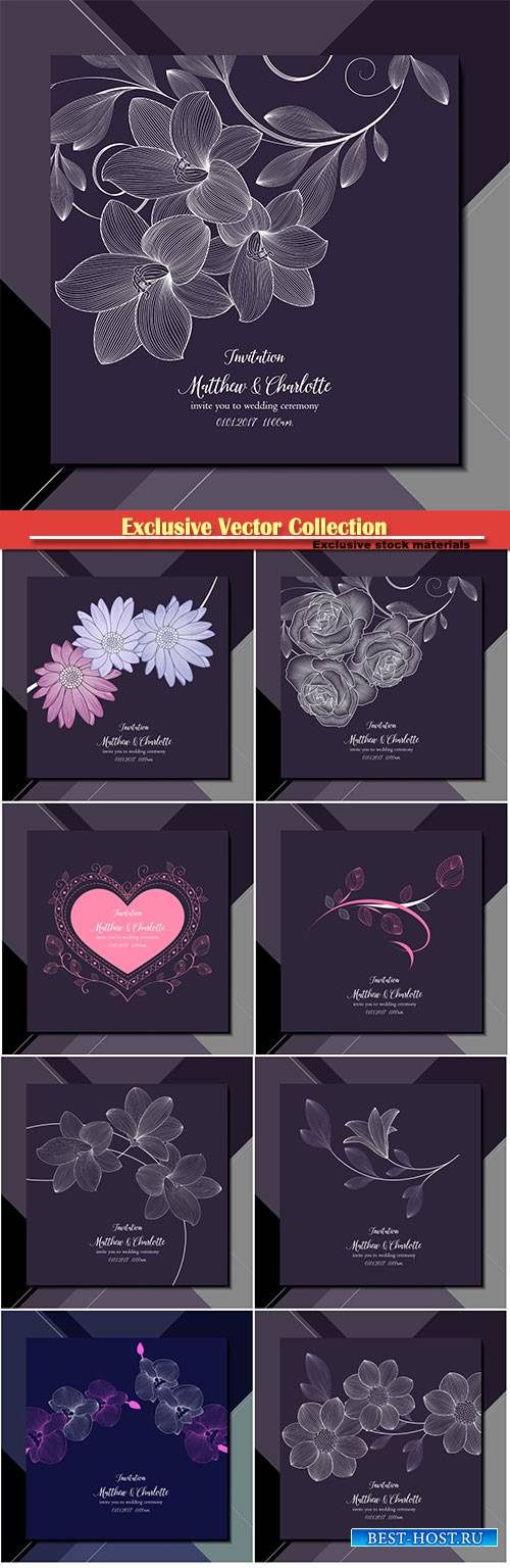 Vector invite you to wedding ceremony