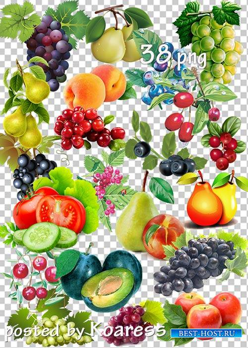 Клипарт в png - Овощи, фрукты, ягоды