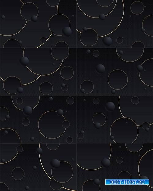 Абстрактные тёмные фоны в векторе / Abstract dark backgrounds in vector