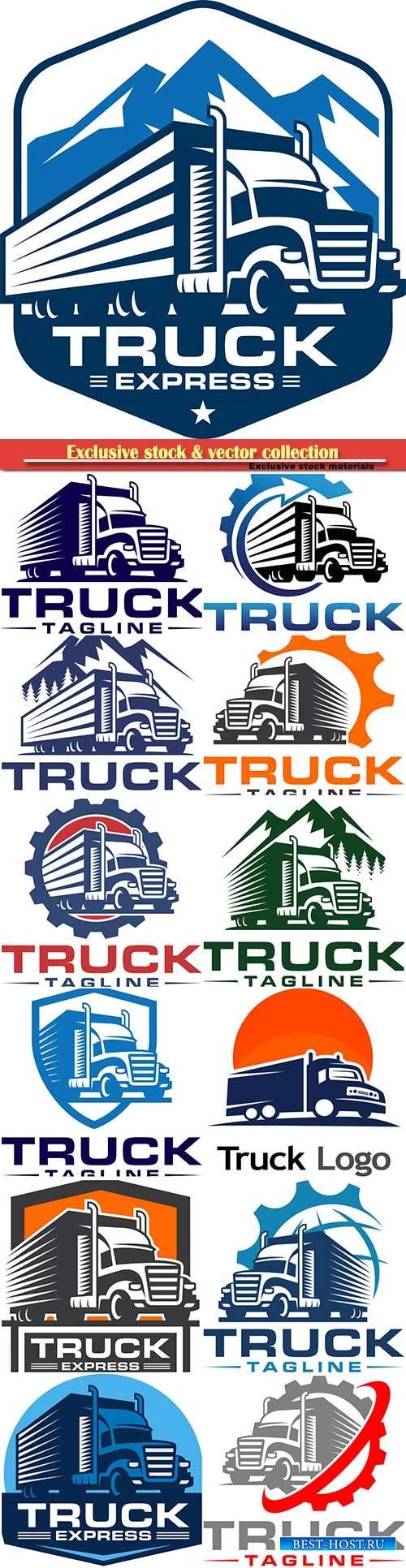 Truck tagline vector logo