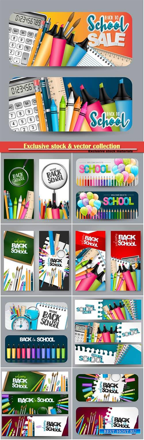 Back to school design vector, education concept illustration # 2