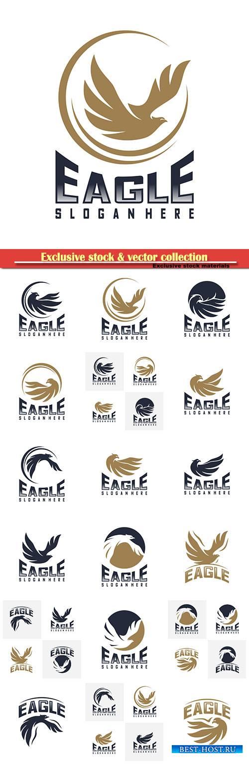 Eagle logo design vector,  icon symbol