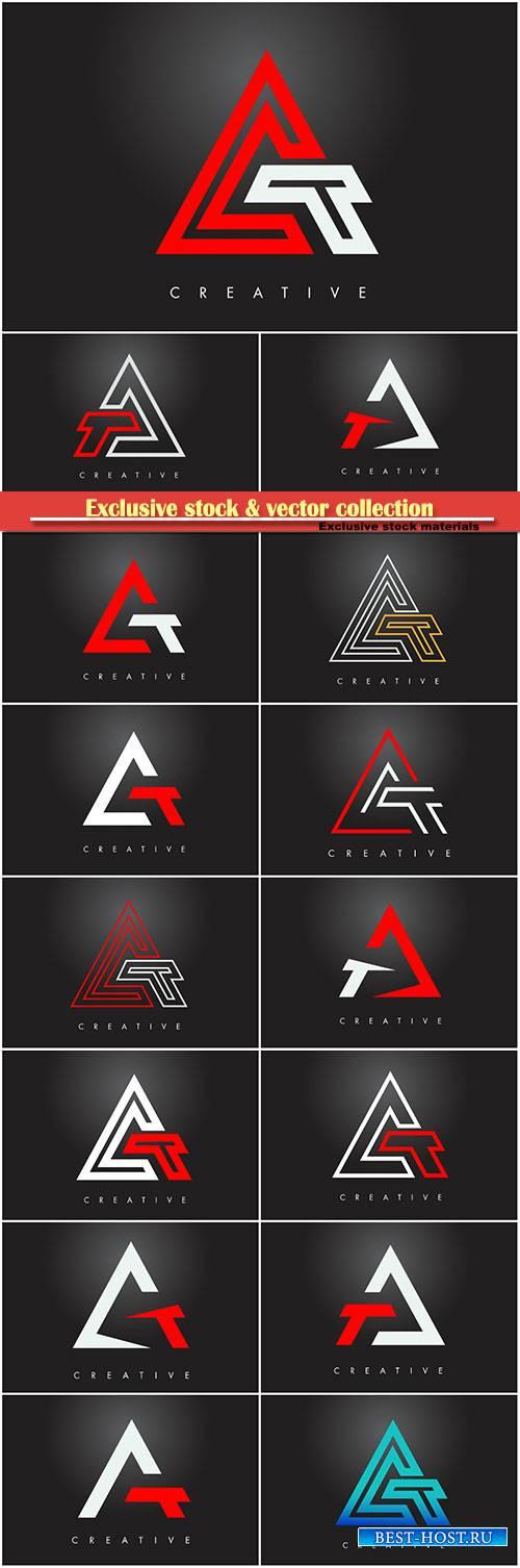 A letter monogram design logo, letter A icon
