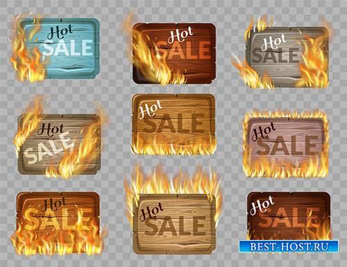 Горящие скидки - Векторный клипарт / Last minute discounts - Vector Graphic ...