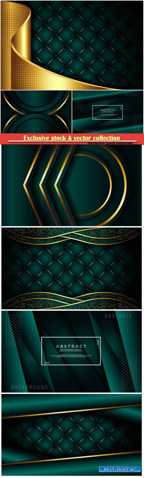 Luxury dark green background with overlap layer