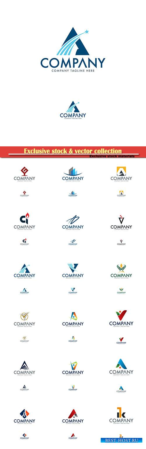 Logo vector template business set # 28