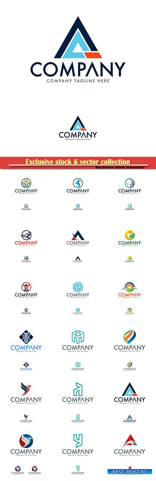 Logo vector template business set # 31