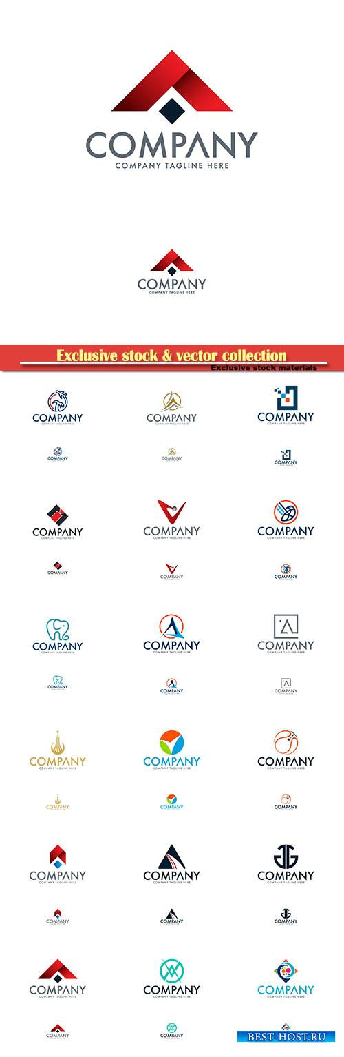 Logo vector template business set # 30