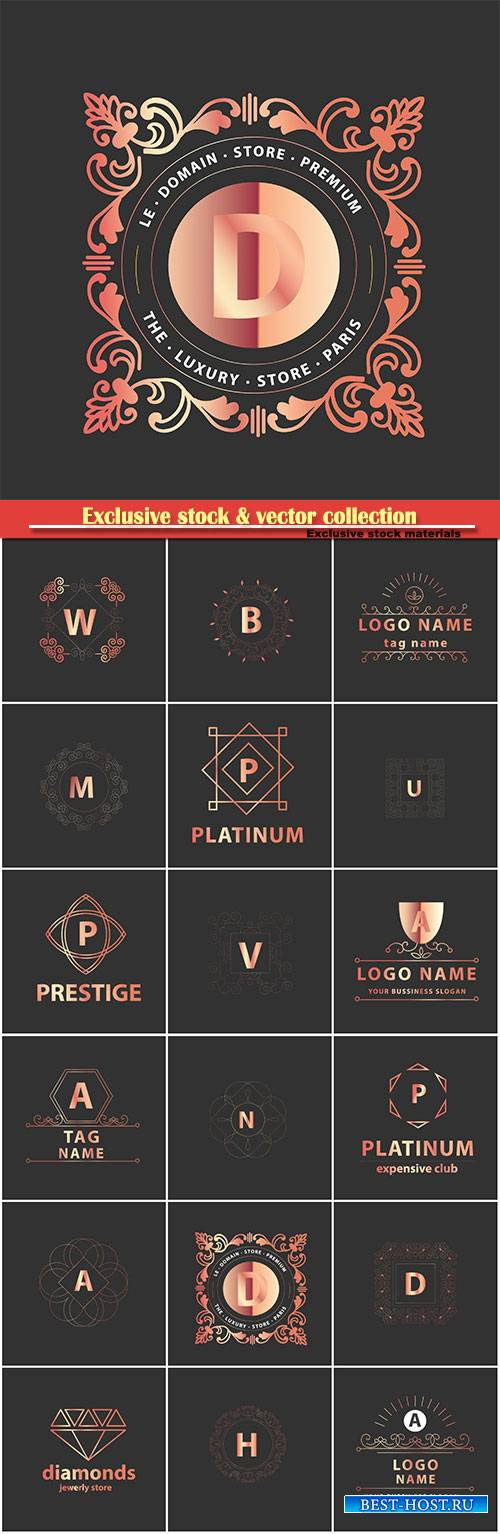 Luxury monograms and logos in vector