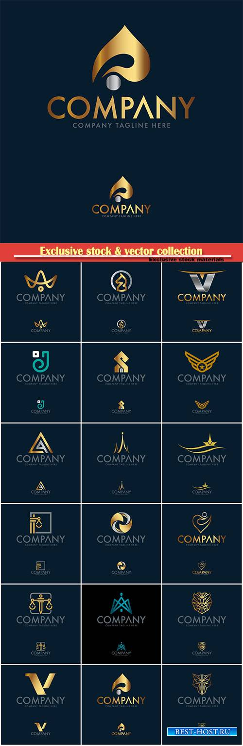 Logo vector template business set # 36