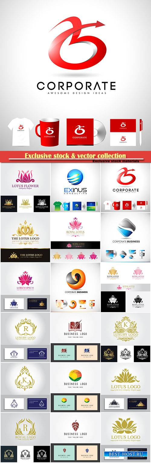 Logo vector template business set # 46