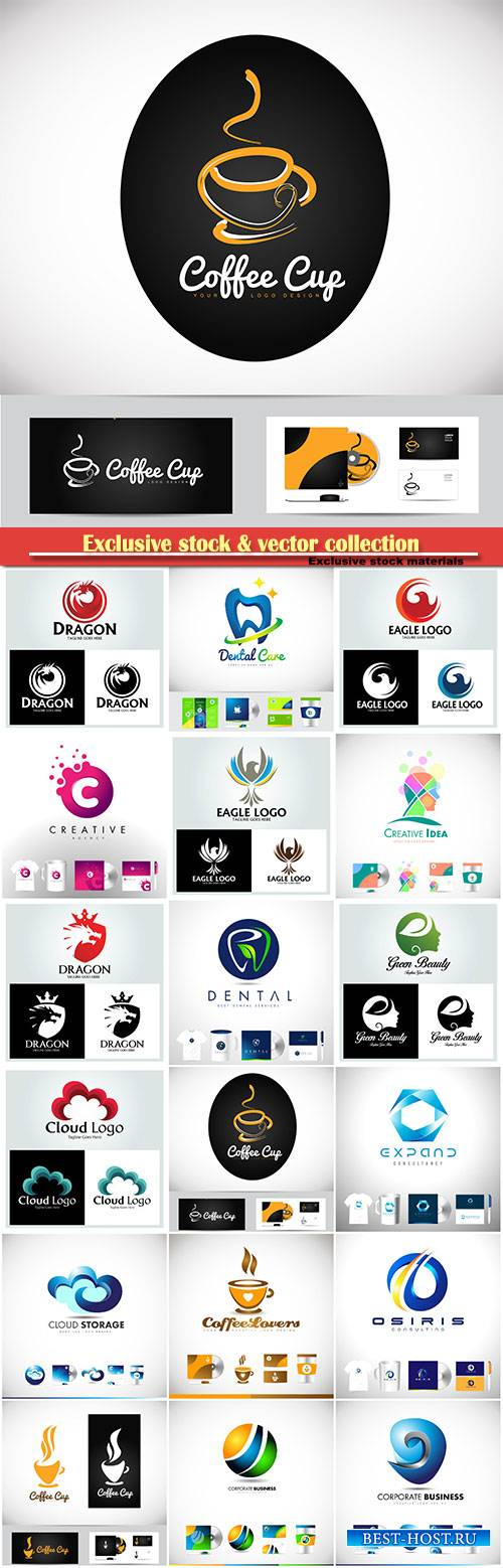 Logo vector template business set # 45
