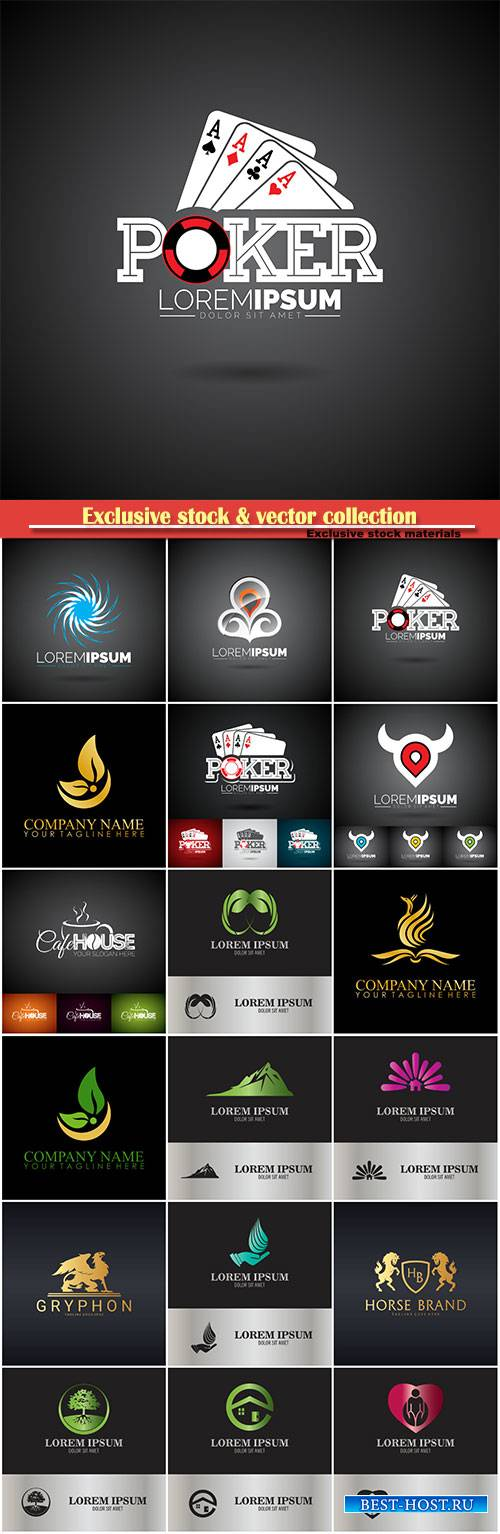 Logo vector template business set # 44